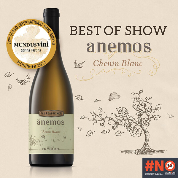 Old Road Wine Co. Anemos Chenin Blanc Mundus Vini Award Digital Artwork