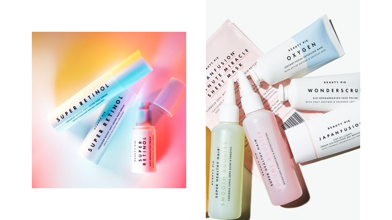 Mix of Colourful BEAUTY PIE Products