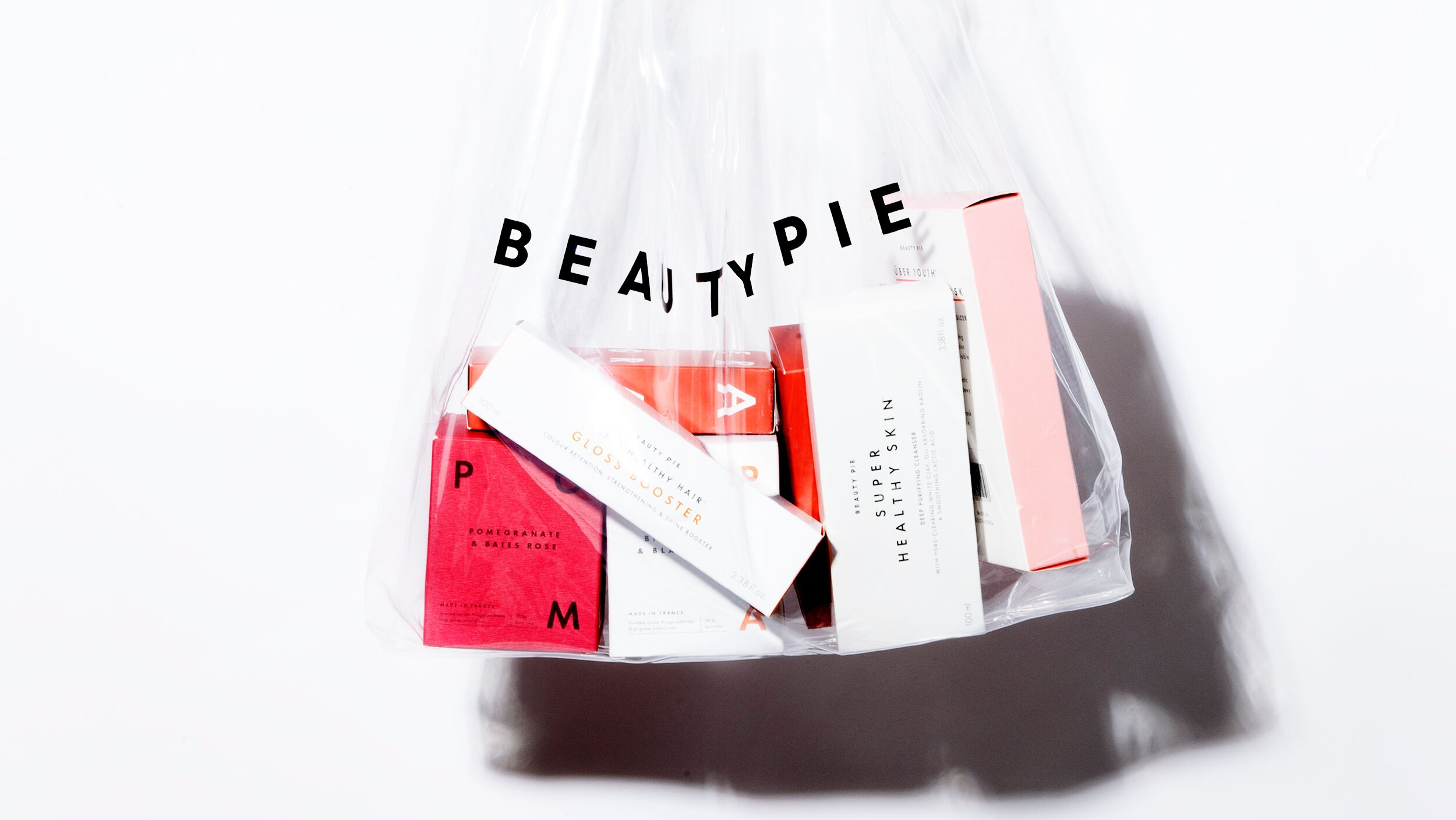Transparent BEAUTY PIE Bag