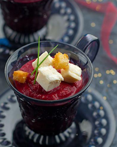 Recettes de soupes :  Velouté de betterave et fromage