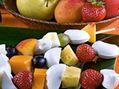 Recette : Brochettes de fromage frais aux fruits - Recette au fromage
