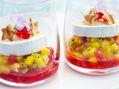 Recette : Chutney mangue, fruits rouges et fromage  - Recette au fromage