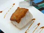 Recette : Pavé de poisson en croûte d'amande et fromage de brebis basque - Recet...