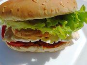 Recette : Burger camembert filet de poulet au curry - Recette au fromage