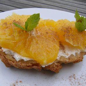 Recette : Tartine aux suprêmes d'orange et fromage frais - Recette au fromage