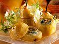 Recette : Poires rôties aux noix et au bleu - Recette au fromage