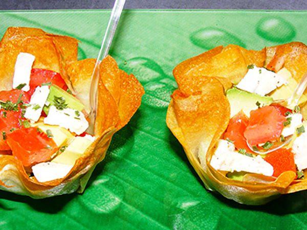 Recette : Panier fraîcheur tomates, avocat et fromage - Recette au fromage