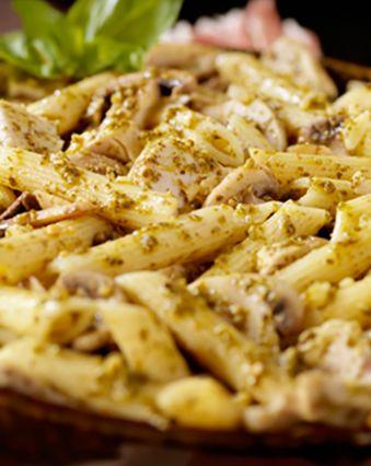 Recettes pas chères :  Gratin de pâtes au poulet et au bleu