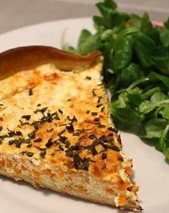 Tartes salées et sucrées au fromage :  Tarte au chèvre frais, carotte et céleri