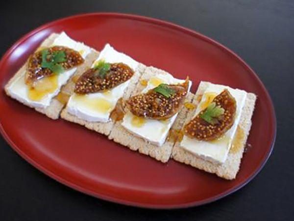 Recette : Craquant oriental au fromage et aux figues - Recette au fromage