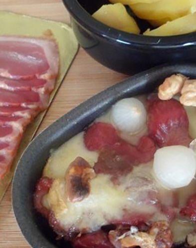 Raclette :  Raclette landaise au magret de canard