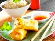 Recette : Nems au brie, poulet et légumes  - Recette au fromage