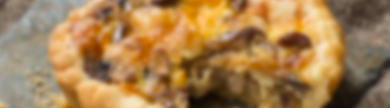 Quiche aux champignons et au fromage - Recette au fromage