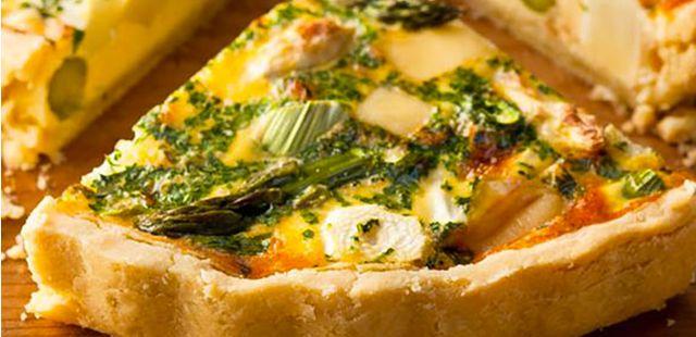 Recettes de quiches au fromage : Quiche aux asperges et au fromage