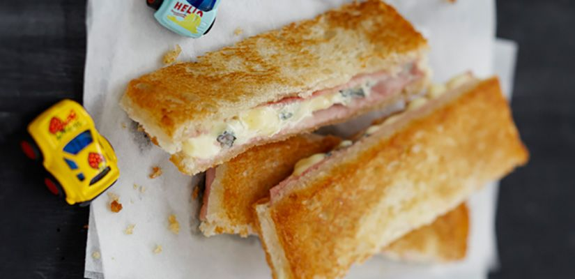 Recettes rapides : Recette : Croque-monsieur au bleu - Recette au fromage