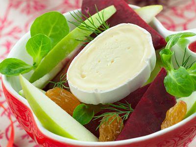 Recette : Salade de betterave à la pomme verte et au fromage - Recette au fromag...