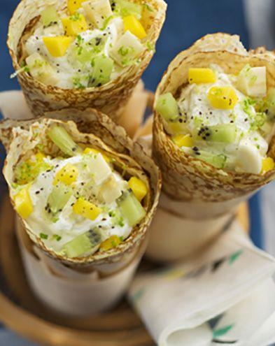 Recettes de crêpes et galettes :  Crêpes exotiques à la vanille et au fromage frais