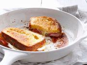 Recette : Pain perdu brioché au fromage et aux fraises - Recette au fromage