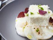 Recette : Carpaccio de St-Jacques au fromage frais et noix de coco - Recette au...