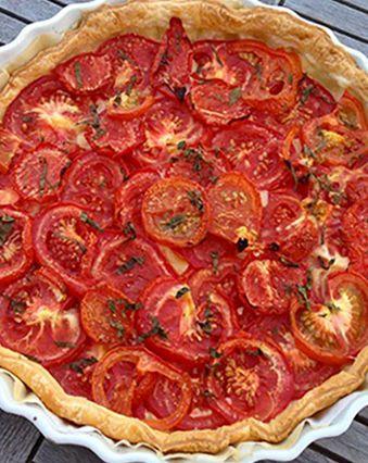 Tartes salées et sucrées au fromage :  Tarte à la tomate extra et au fromage