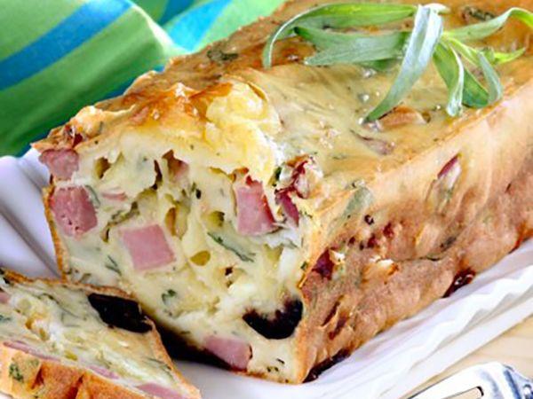 Recettes françaises :  Cake au jambon et au fromage