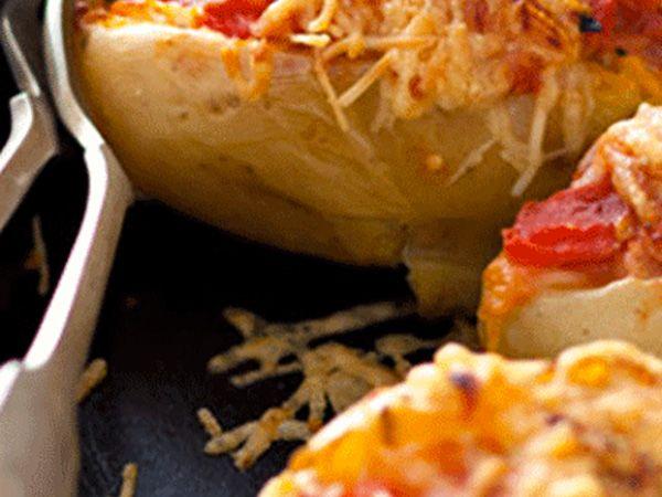 Recette : Pomme de terre farcie au jambon de Parme - Recette au fromage