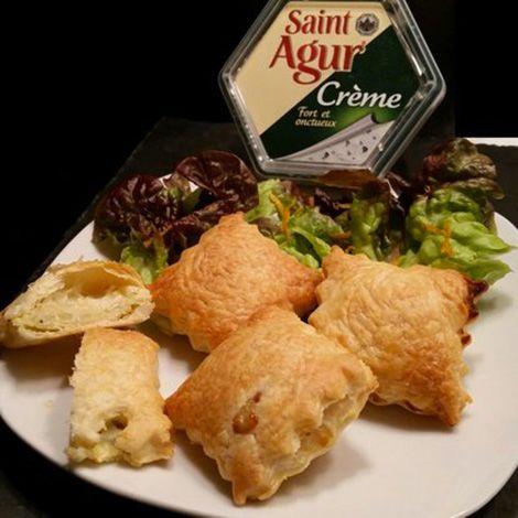 Recette : Ravioles feuilletées au bleu, pomme et zeste d'orange - Recette au fro...