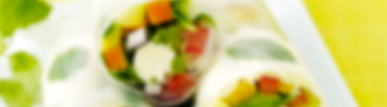 Recette Rouleaux de printemps au fromage frais - Recette au fromage