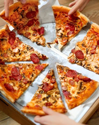 Pizzas au fromage :