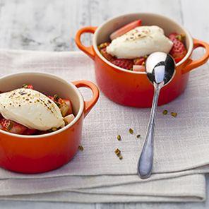 Recette : Mini cocottes aux fraises et fromage frais - Recette au fromage