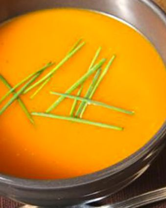 Recettes de soupes :  Soupe de potiron au fromage frais