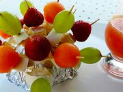 Recette : Brochette de fruits au fromage - Recette au fromage