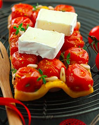 Tartes salées et sucrées au fromage :  Tarte tatin de tomates cerises