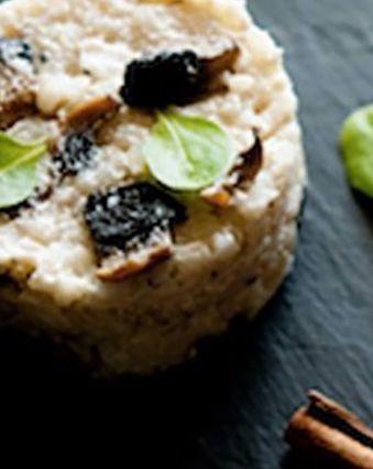 Recettes pas chères :  Risotto express aux champignons au fromage frais Ciboulette & Echalote