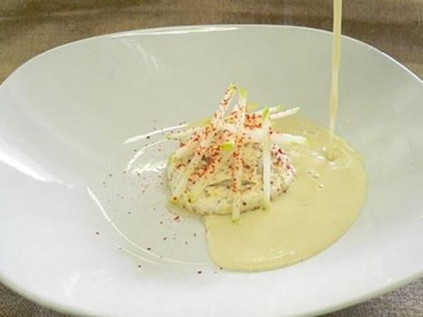 Recettes de soupes :  Velouté d'endives et pomme de terre au fromage frais