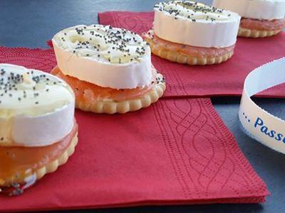 Recette : Crackers au saumon et fromage - Recette au fromage