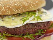 Recette : Hamburger au boeuf et au bleu - Recette au fromage