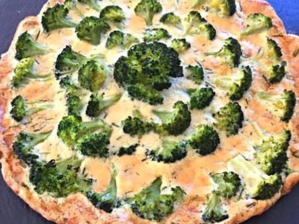 Tartes salées et sucrées au fromage :  Quiche au chèvre frais, brocolis et ciboulette