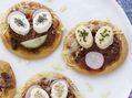 Recette : Mini pizza à la viande et au fromage frais - Recette au fromage