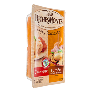 RICHES MONTS FROMAGE RACLETTE TRANCHETTES DUO NATURE-FUME 420G
