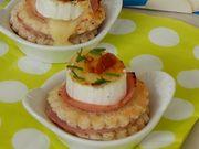 Recette : Bouchée au bacon, miel et fromage gratiné - Recette au fromage