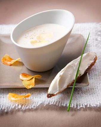 Recettes de soupes :  Velouté de châtaignes au gingembre et fromage frais