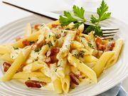 Recette : Pâtes aux lardons et fromage de chèvre frais - Recette au fromage