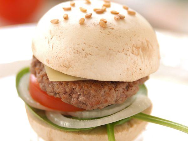 Recette : Mini champignon burger - Recette au fromage