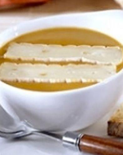 Recettes de soupes :  Soupe potiron-châtaigne au fromage