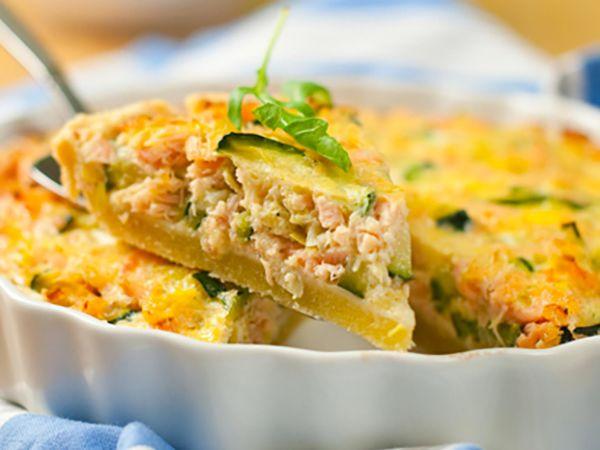 Recettes de quiches au fromage :  Quiche au saumon et au fromage frais