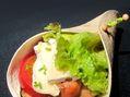 Recette : Wrap au camembert, légumes grillés et poulet - Recette au fromage