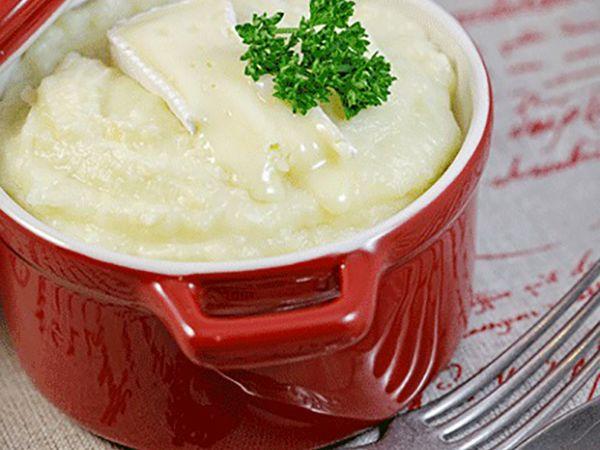 Recettes françaises :  Purée de pommes de terre au camembert