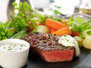 Recette : Entrecôte et sa sauce au fromage frais ail & fines herbes - Recette au...