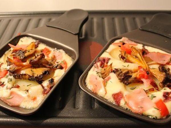 Raclette :  Raclette originale aux champignons